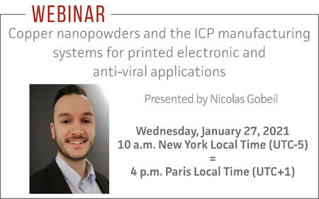 Copper nanopowdeers and the ICP manufacturing systems for printed electronic and anti-viral applications