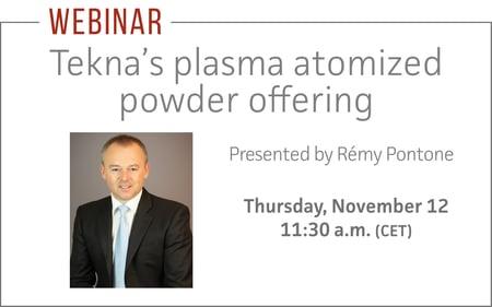 tekna's plasma atomized powder offering