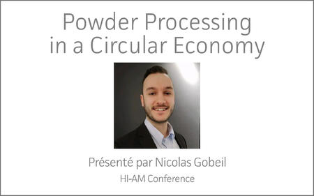 HI-AM Conference | Powder Processing in a Circular Economy